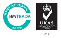 UKAS 9001 Certificate