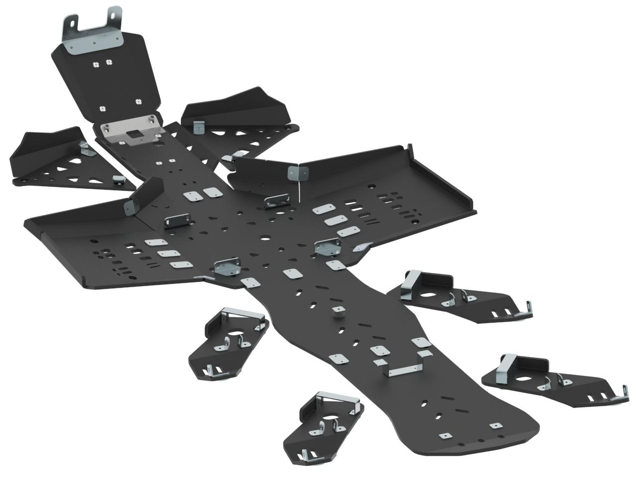 Skid plate full set (plastic) CanAm G2 Outlander 6x6 (2017+)  sc 1 st  Iron Baltic & Skid plate full set (plastic): CanAm G2 Outlander 6x6: (2017+) fo