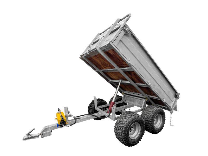 Hydraulic Trailer Lift Kits : Manual hydraulic lift kit for eco trailer cargo box