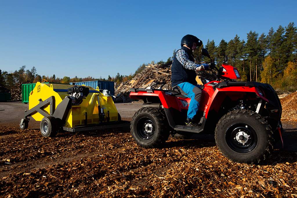 atv sweeper collector