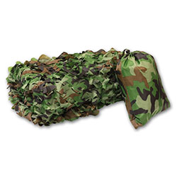 Woodland camo camouflage covering net for mobile hunting towers