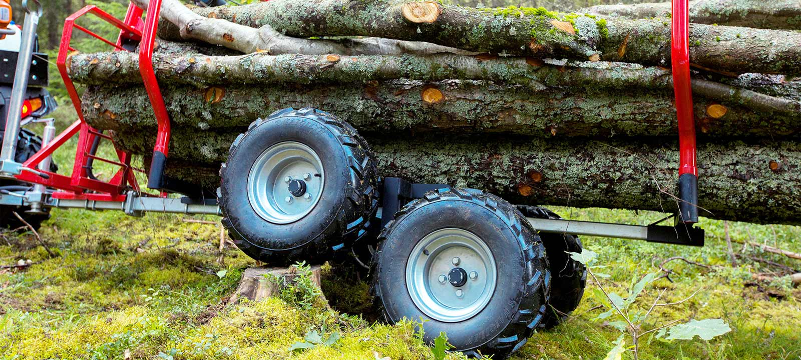 atv timber trailer