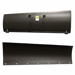 Tapered snow plow blades