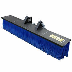 Push broom attachment