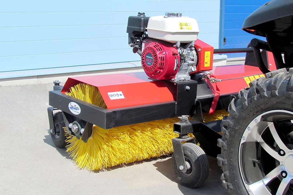 Rotary broom operating position