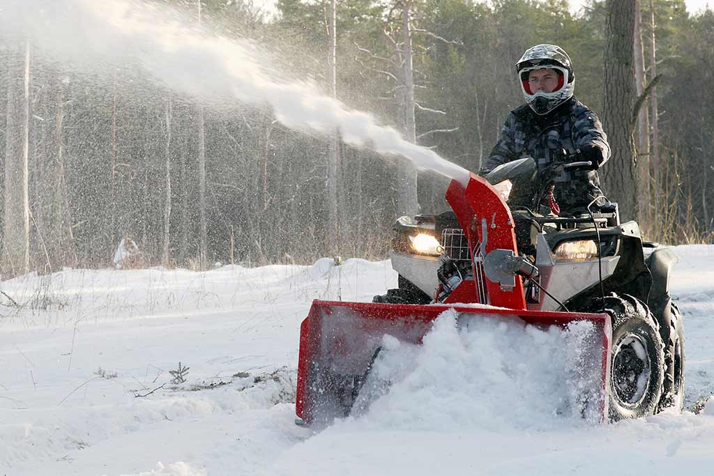 ATV and UTV Snow Blowers