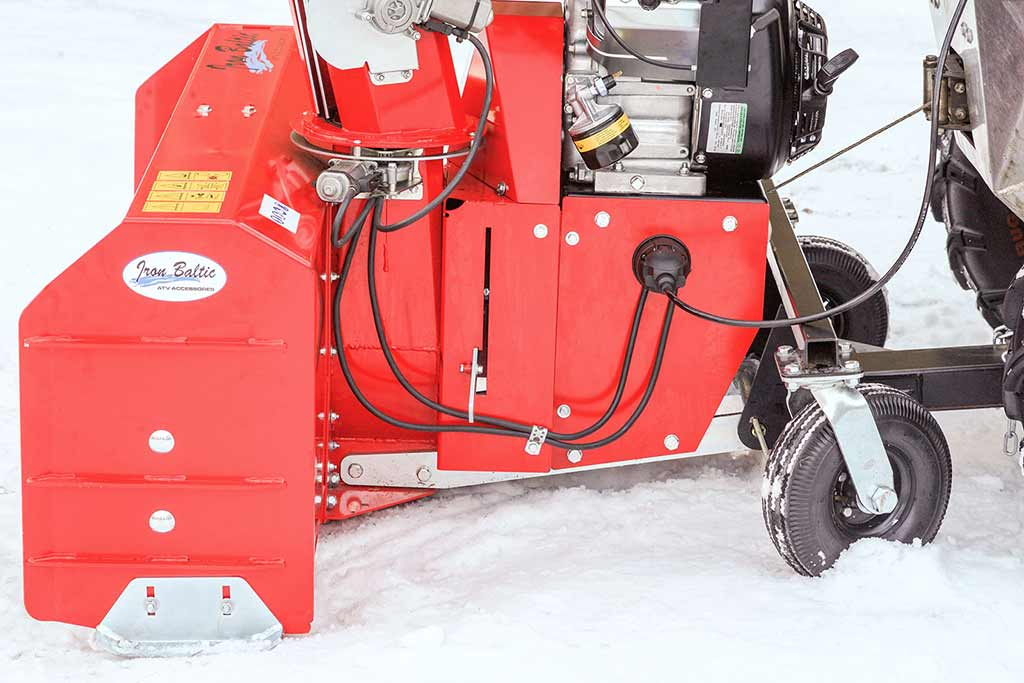 Snow blower support wheels