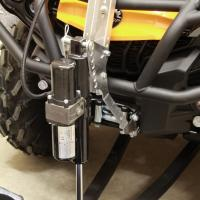 Plow lift adapter ( tubular steel rack fitted ATV )
