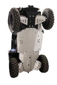Skid plate full set (aluminium) +front winch mounting kit Polaris ACE 325 / 570
