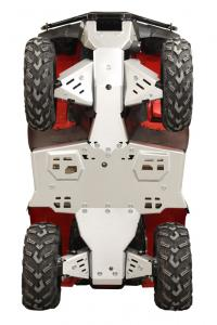 Skid plate full set (aluminium) Rancher / Rubicon Honda TRX 420 FA6 (IRS) / TRX 500 FA6 FA7 (IRS) / TRX 500 FM6 FM7 (IRS)