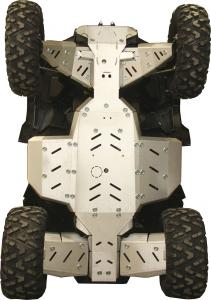 Skid plate full set (aluminium) Polaris Sportsman XP 1000 S
