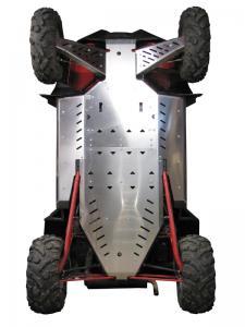 Skid plate full set (aluminium) Polaris RZR 900 XP (-2014)