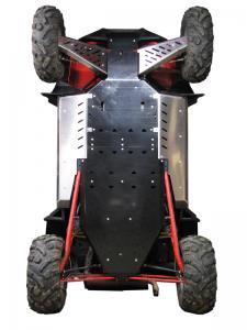 Skid plate full set (plastic) Polaris RZR 900 XP (-2014)