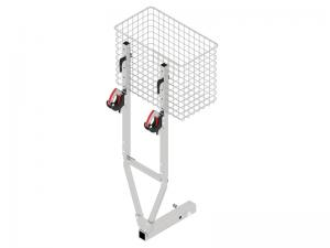 Hitch receiver rack