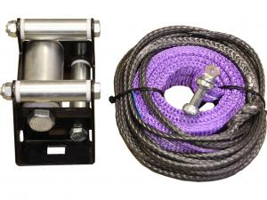 Plow lift strap kit for a winch