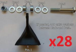 Hammer blades ( Complete set )