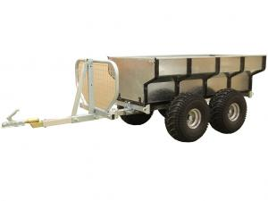 Timber trailer with cargo box COMBO 1000